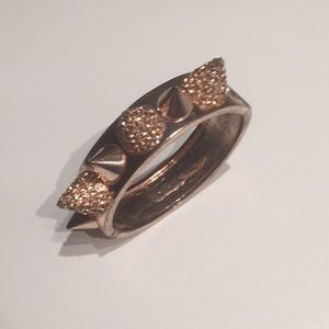 Jewelry - Rose Goldtone & Crystals Studded Cuff Bracelet